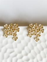 18K GOLD PLATED FLOWER CLUSTER EARRINGS