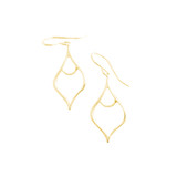 GOLD ARABESQUE DANGLE EARRINGS SMALL
