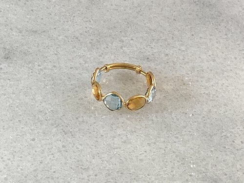 18K Gold Multicolor Ring