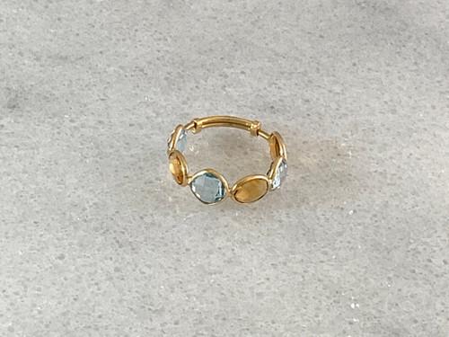18K Gold Multicolor Ring
