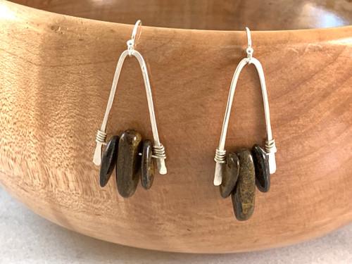 Sterling Silver Bronzite Earring
