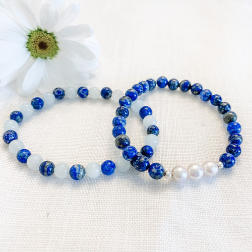 Lapis and Pearl Bracelet