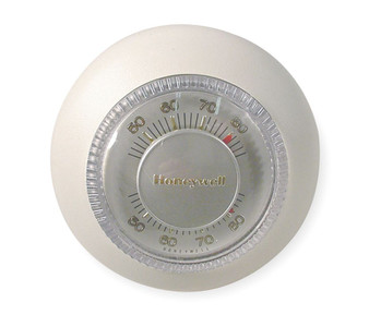 Thermostat Round Deluxe Whit T87F-3855W