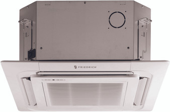 Friedrich - Ceiling Cassette Mini Split Air Conditioner - 12,000 BTU - Heat Pump