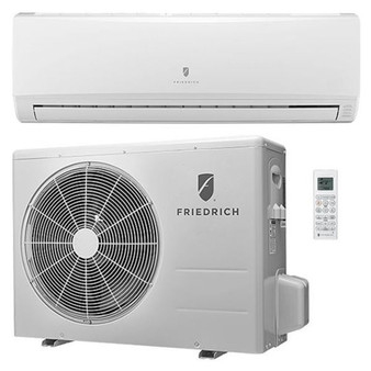 Friedrich - Concealed Duct Mini Split Air Conditioner - 12,000 BTU - Heat Pump