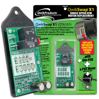 QwikSwapX1: Constant Torque ECM Replacement- 1 speed