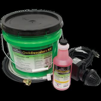 QwikDescalerKit: Descaler solution, bucket, pump, 2 hoses