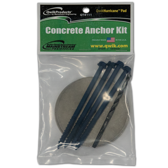 QwikHurricane Pad: Optional Concrete Anchor Kit