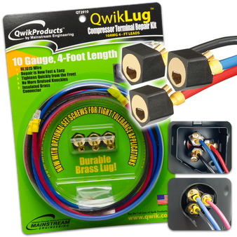 QwikLug: 3 Terminal Repair Lugs 10 AWG, 4ft leads