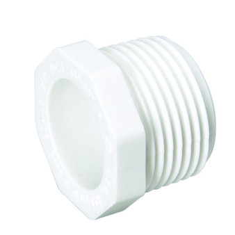 1/2 Pvc Threaded Plug Mp PVCPLUG1/2M
