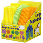 Perler Large Basic Shapes Pegboards - 18 pack