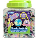 Perler 11,000  Bead Glow in the Dark Mix Bucket