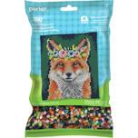 Perler Floral Crown Fox  Pattern Bag