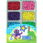 Perler Brights 'n Stripes Tray of Beads