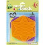 Perler Pegboards 5-Pack Hexagon, Circle, Interlocking Square, Star & Heart