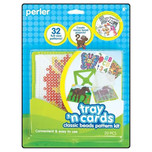 Perler Tray 'n Cards Pattern Kit for Standard Size Beads