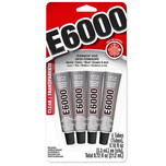 E6000 - Industrial Strength Craft Adhesive 5.3ml - 4 Pack