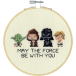 """Dimensions -  Star Wars Counted Cross Stitch Kit - 6"""" Round - Family Hoop"""