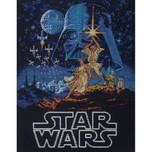 "Dimensions -  Star Wars Counted Cross Stitch Kit -  11"" X 14"" - Luke & Leia"