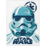 """Dimensions -  Star Wars Counted Cross Stitch Kit -  5"""" X 7"""" - Stormtrooper"""