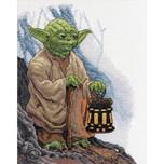 "Dimensions -  Star Wars Counted Cross Stitch Kit - 8"" X 10"" - Yoda"
