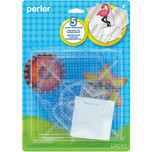Perler Pegboards 5-Pack Hexagon, Circle, Square, Star & Heart