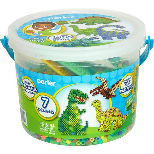 Perler Dinosaur Bucket