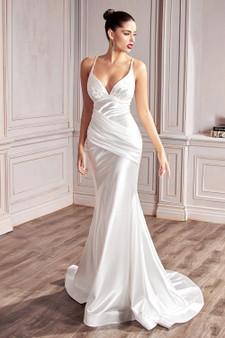 Stunning  Satin Off-White Sweetheart Neckline Bride Dress