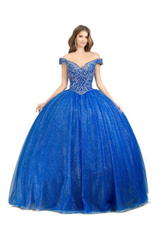 Sweetheart Crystal and Rhinestone Embellished Quinceanera Dress - Multi-Colors Available