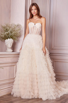 Couture Ombre Evan Gown With Chantilly Lace Corset Brides Dress