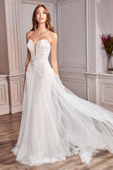 Chantilly Off-White Sweetheart Bodice Lace Beaded Brides Dress