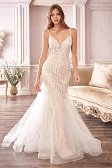Marilyn Off-White Hourglass Shaped Beaded Mermaid Tulle Brides Dress