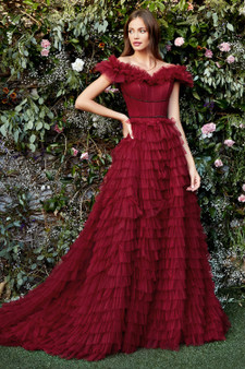 Couture Moulin Rouge  Corset Tulle Gown