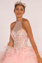 Beads and Jewel Embellished Halter Neck Quinceanera Dress