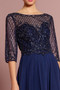 Mother of the Bride: Beads Embellished Bodice Chiffon Long Dress