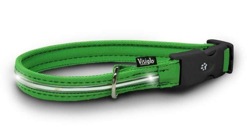Visiglo Green Collar with LEDs