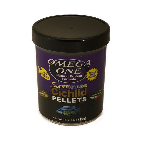 Omega One Cichlid Pellets - 4.2 oz
