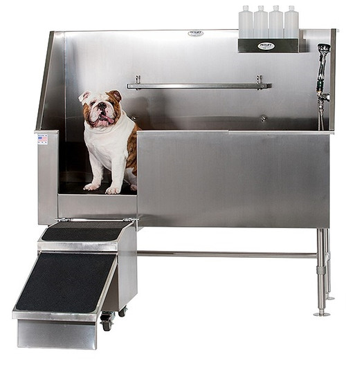 Petlift BT-AQ48 walk-in stainless steel grooming tub