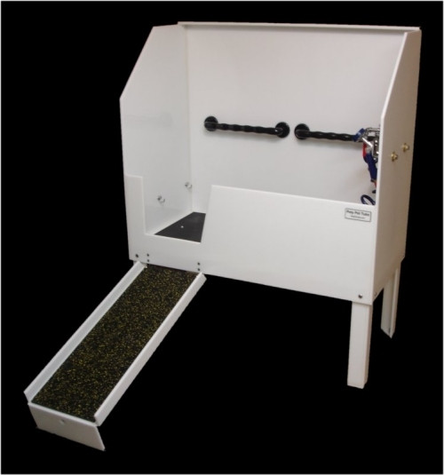 """Poly Pet Tubs PRD58X 58"""" grooming tub with ramp"""