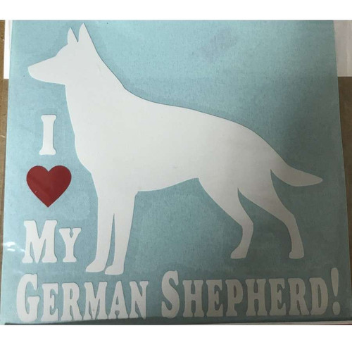 I (Heart) My German Shepherd Window Sticker
