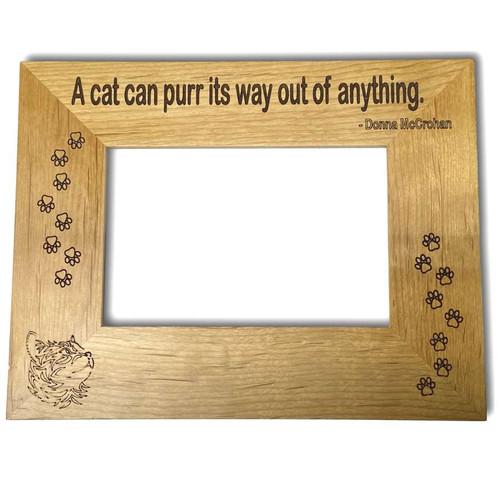 "Cat 4""x6"" Alder Wood Frame Horizontal"