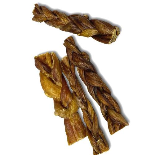 """Braided Beef Bladder Sticks 6"""" - 5 Pack"""