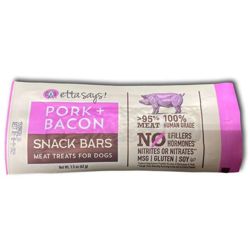 Pork + Bacon Snack Bars