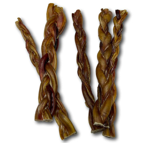 "12"" Braided Beef Bully Sticks"