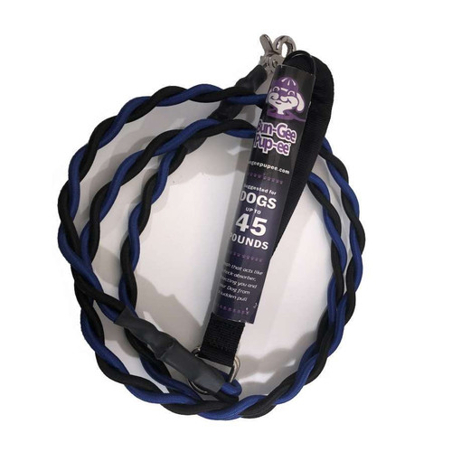 Bun-Gee Pup-ee Leash 45lb - BLUE