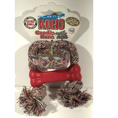 Kong Goodie Bone With Rope XS