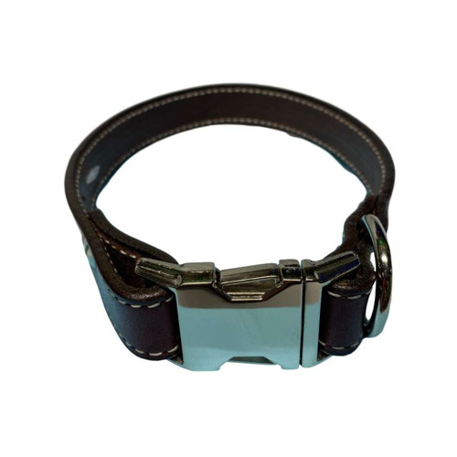 """Leather Collar 22"""" - 24"""" Burgundy"""