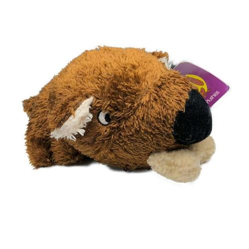 Plush Dog With Bone Toy