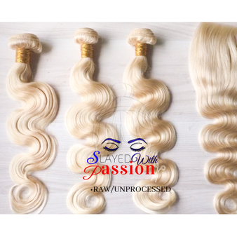 Platinum deep wave hair unprocessed/ raw 100% human hair Raw Brazilian body wave