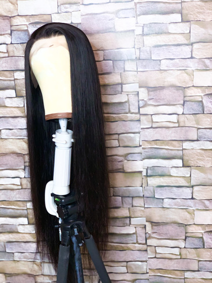 Lace frontal Wig  -Straight Natural brown  -Raw unprocessed bundles  13x4 Frontal  Nude Swiss Lace